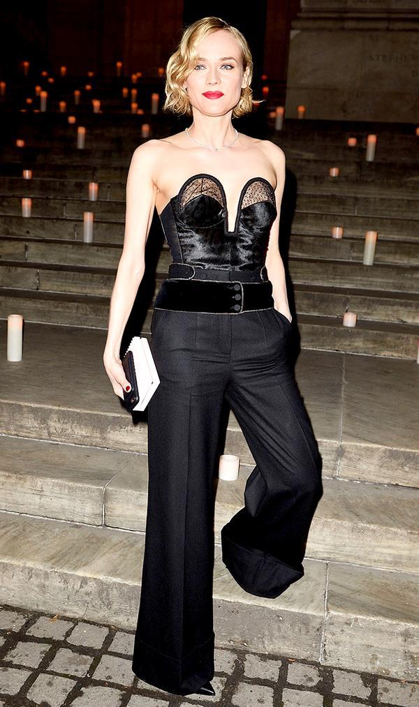 Diane Kruger style - black jumpsuit