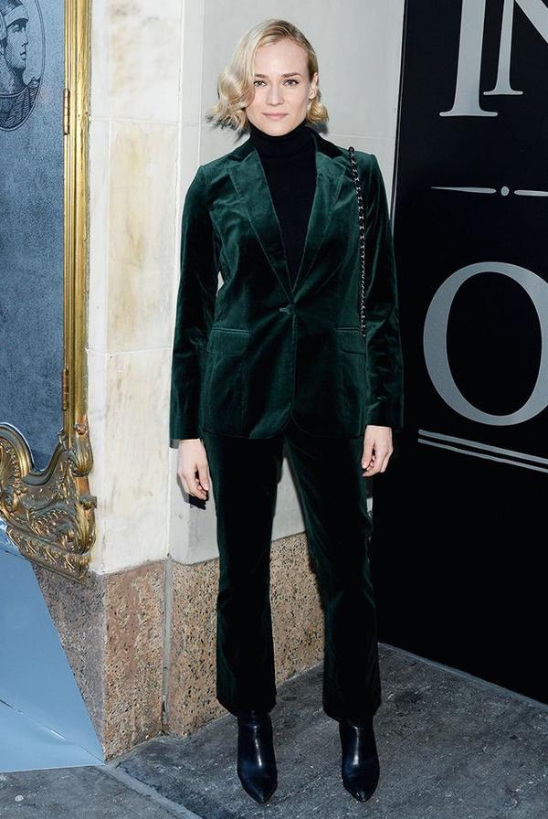 Diane Kruger style - velvet suit