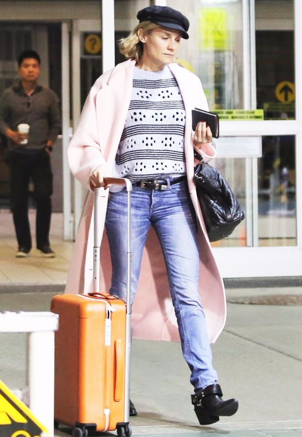 Diane Kruger Airport Outfit