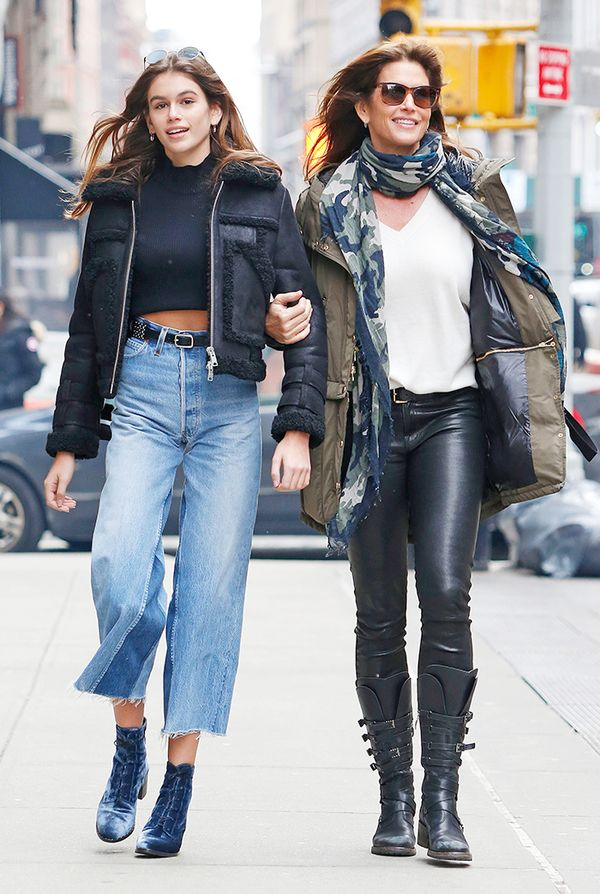 kaia gerber and cindy crawford style