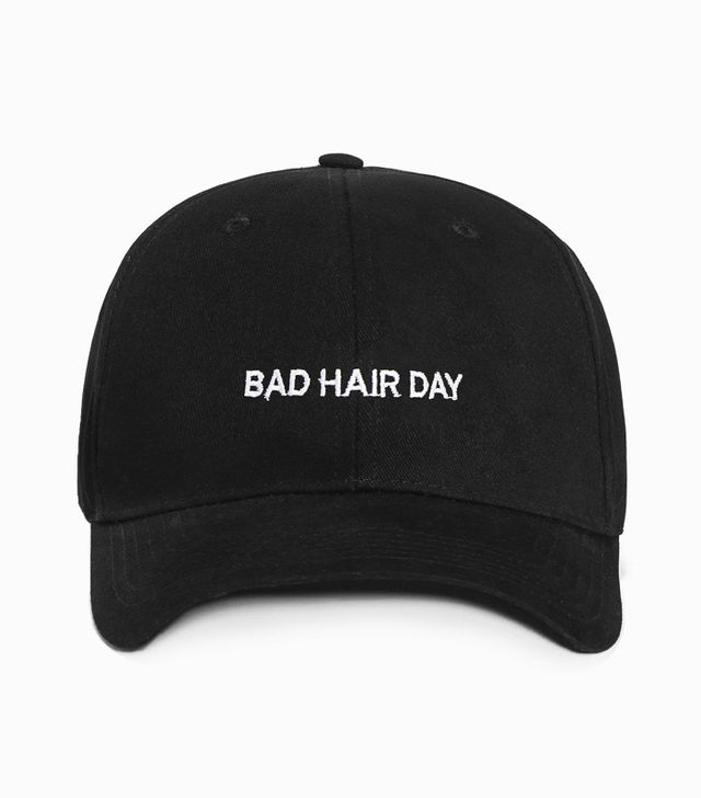 Best slogan caps: Bad Hair Day