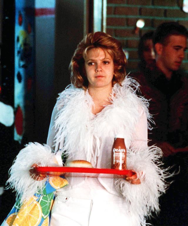 Bella Hadid noughties style: Josie Grossie white fluffy top