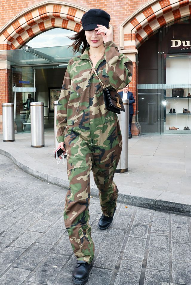 Bella Hadid noughties style: Spice World camo