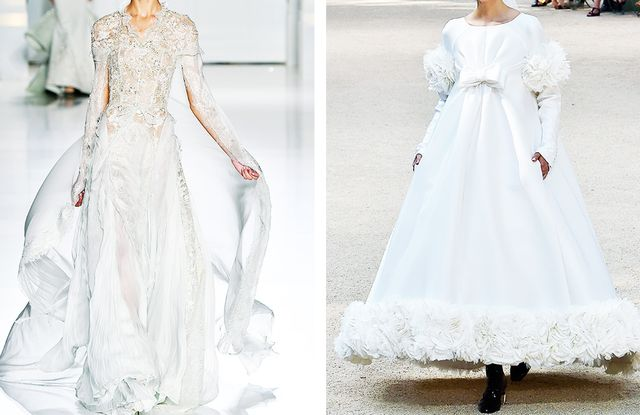 Long-sleeve wedding dress trend: Ralph & Russo and Chanel