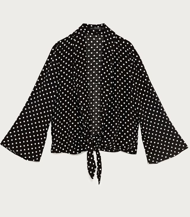 This Is How To Buy Zara On eBay: Polka Dot Blazer With Bow At The Waist