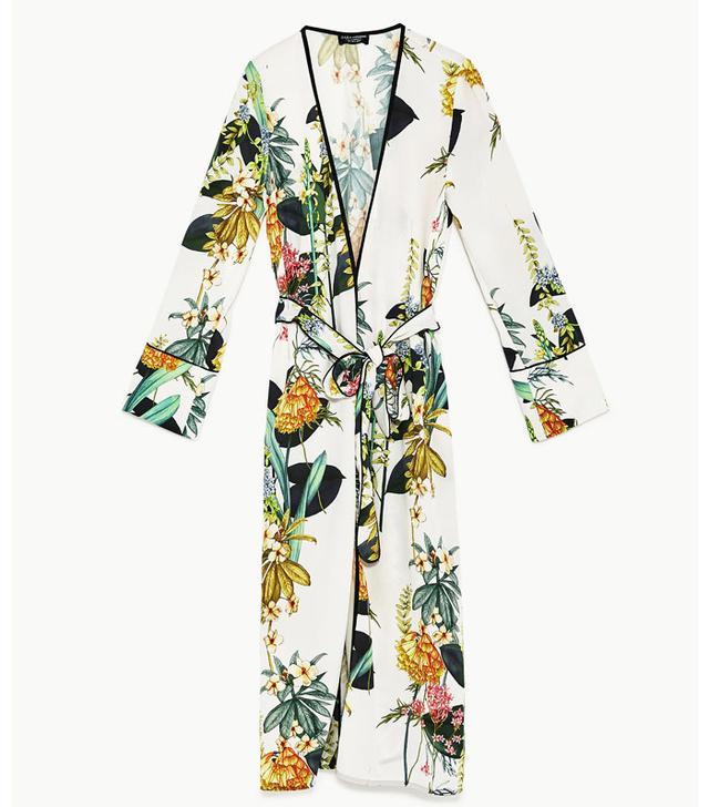 This Is How To Buy Zara On eBay: Zara Long Printed Kimono