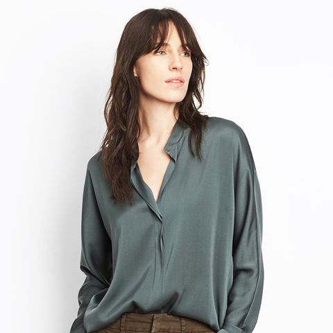 Double-Front Silk Top