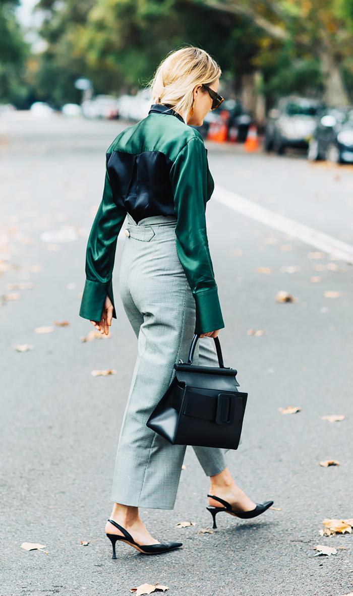 styling a silk blouse
