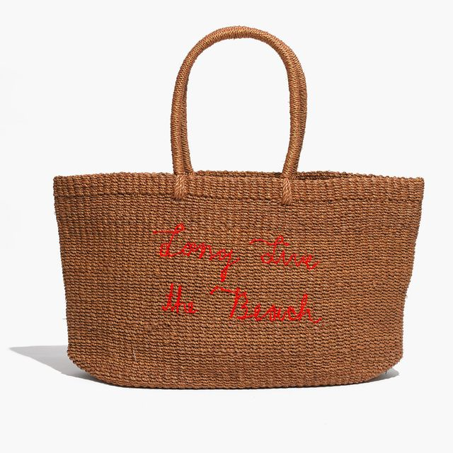Madewell Surfrider Foundation Straw Tote Bag