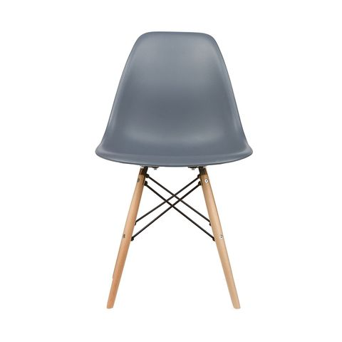 Eames Style Side Chair in Grey, Set of 2