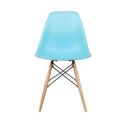 Eames Style Side Chair in Blue, Set of 2