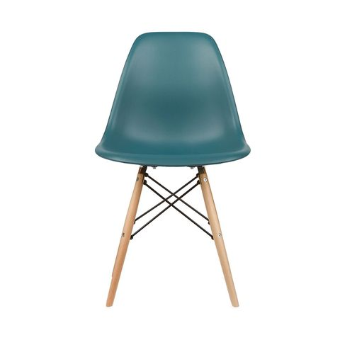 Eames Style Side Chair in Teal, Set of 2