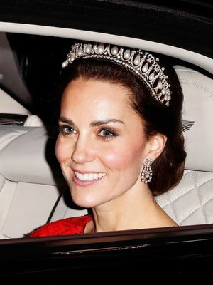 Kate Middleton Wore a Plunging Lace Gown With Princess Diana's Tiara