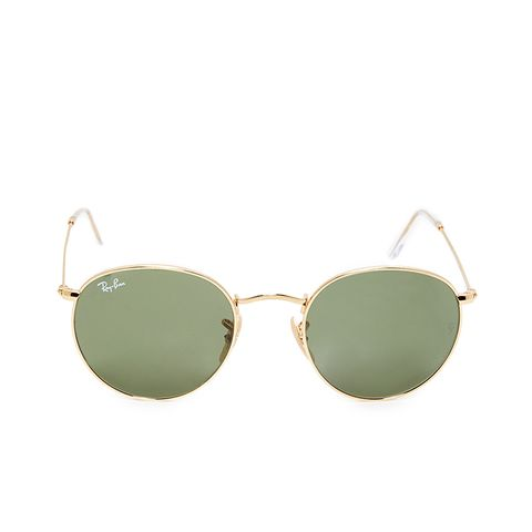 Gold Round  RB3447 Sunglasses