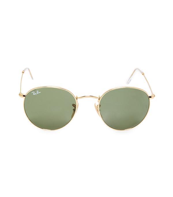 Gold Round Sunglasses - rb3447