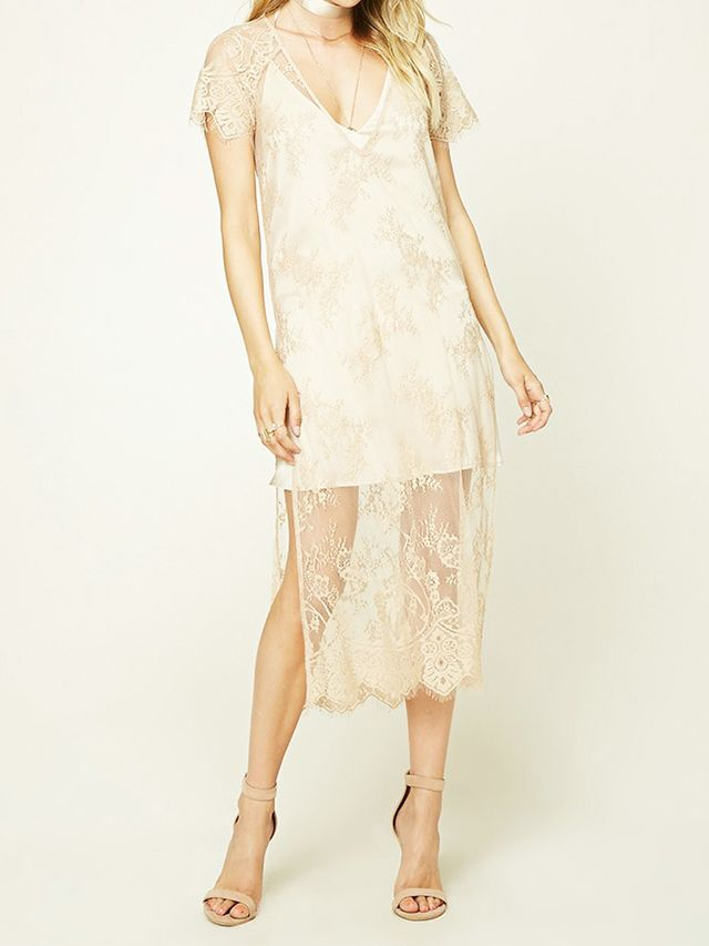 Contemporary Sheer Lace Dress