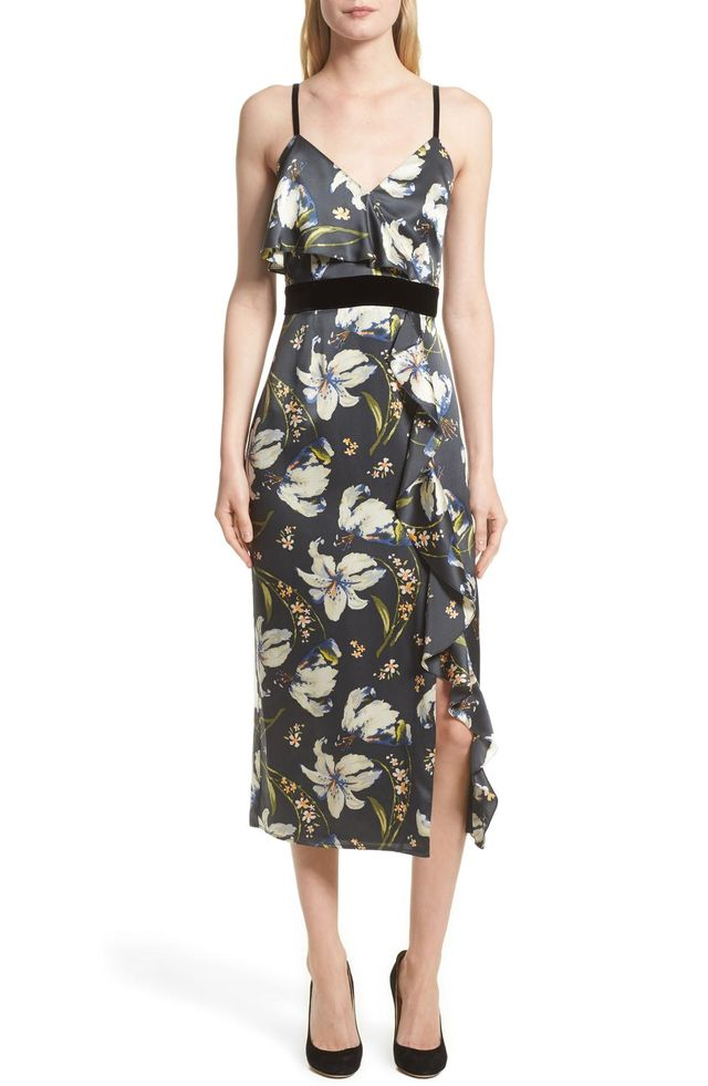 Women's Cinq A Sept Leena Floral Print Dress
