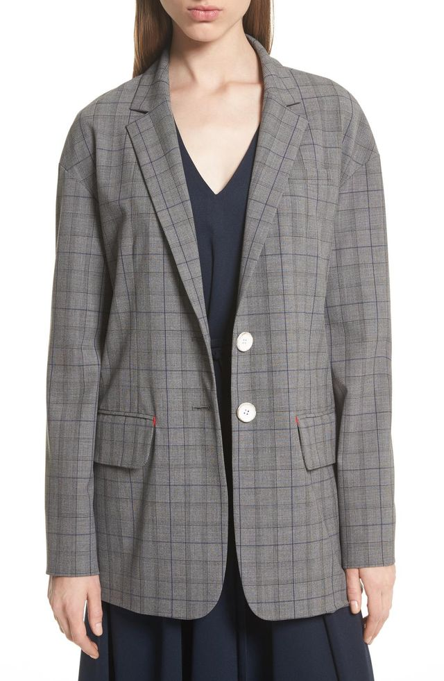 Oversize Glen Plaid Blazer