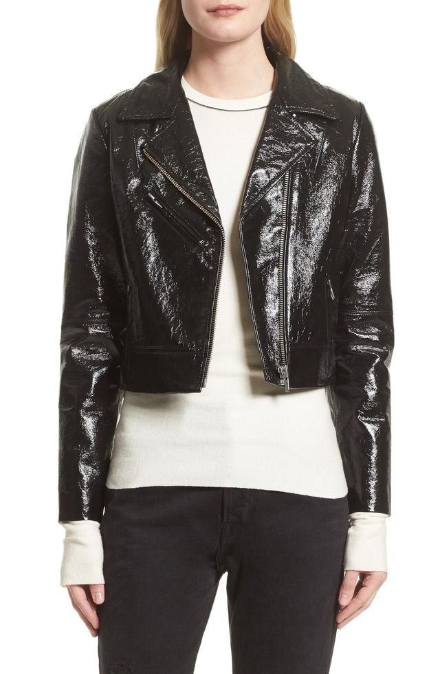 Nova Gloss Leather Moto Jacket