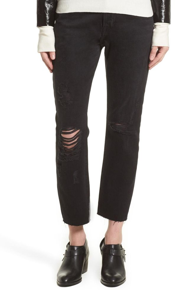 Women's Frame Le Original Ripped Crop Jeans