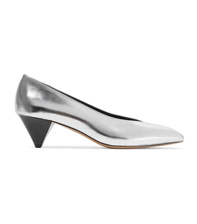 These Are the Most Aging Shoe Styles: Poomi Metallic Leather Pumps