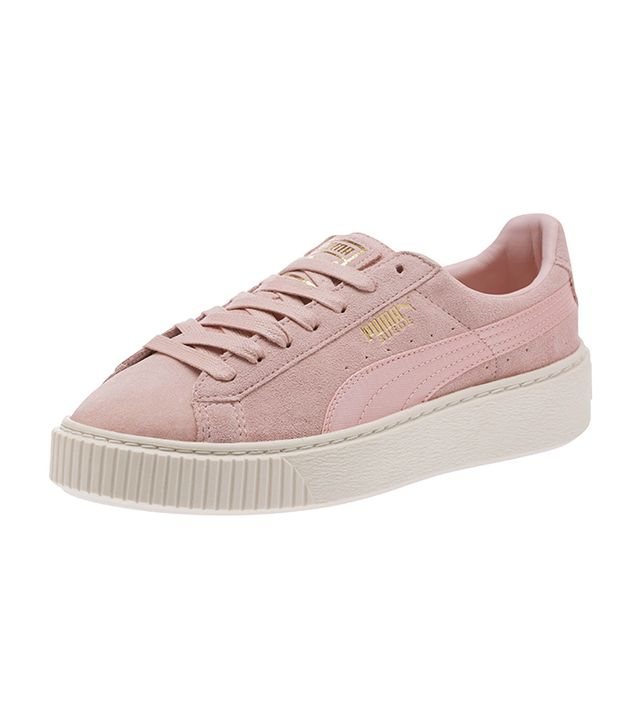These Are the Most Aging Shoe Styles: Puma Suede Summer Satin Platform Trainers