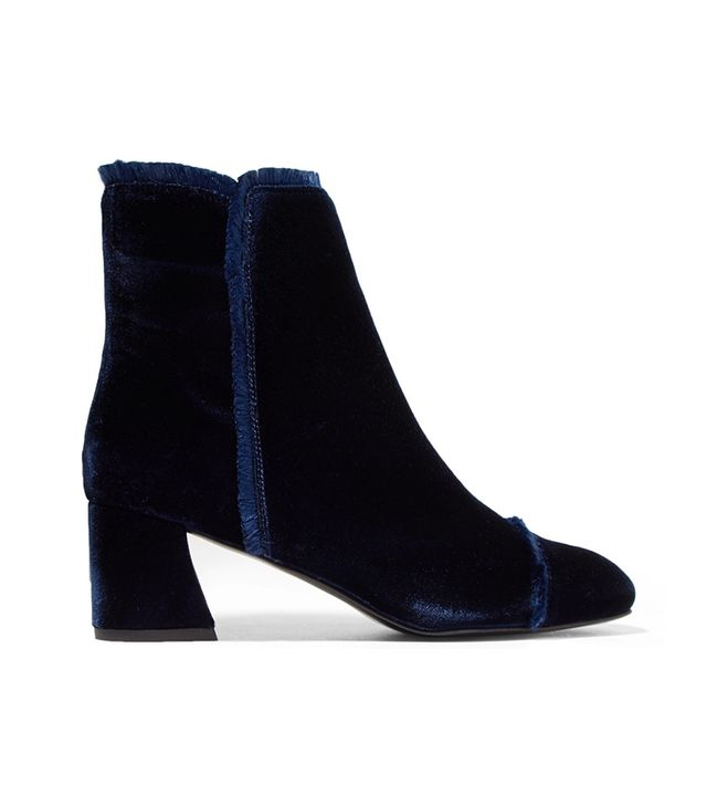 These Are the Most Aging Shoe Styles: On The Fringe Velvet Ankle Boots