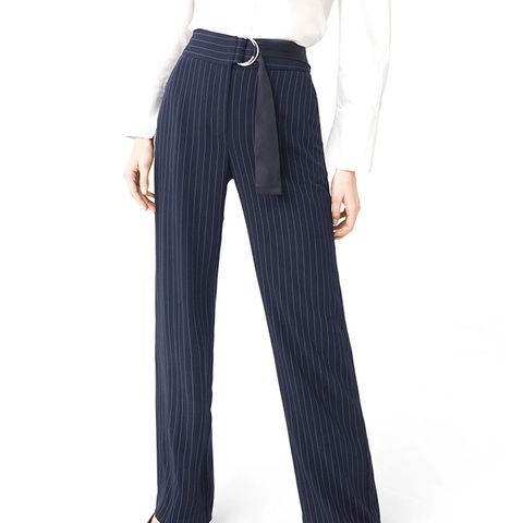 Chalk-Stripe Pants