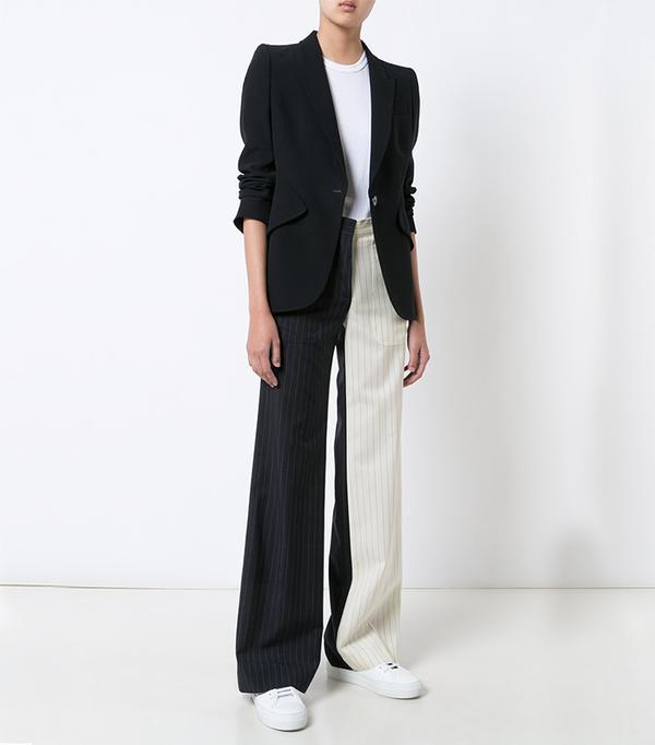 pinstripe bicolor trousers