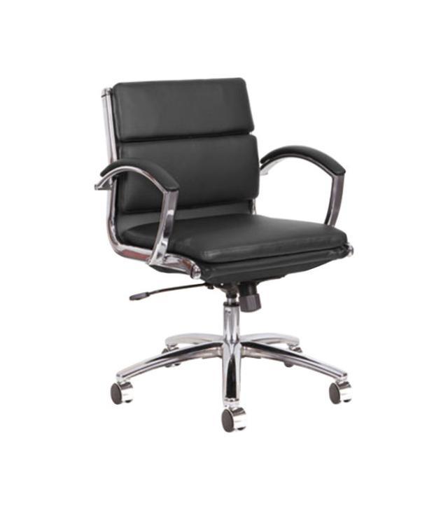 Alera Neratoli Low-Back Black Leather Chair