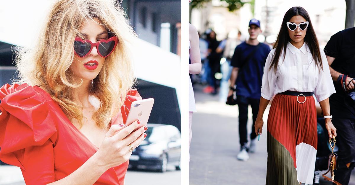 heart shaped sunglasses - Red Saint Laurent Eyewear LBBNHH1x