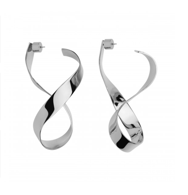 Jennifer Fisher Medium Thick Script Earrings