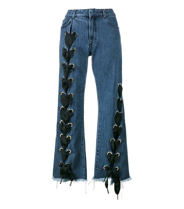 Unusual Summer 2017 Trends: lace-up wide-leg jeans