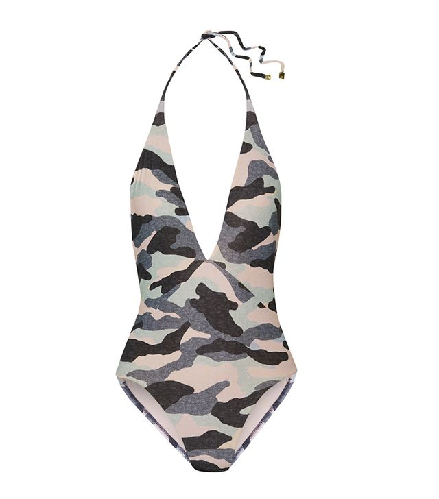 Unusual Summer 2017 Trends: Diane Camouflage-print Swimsuit