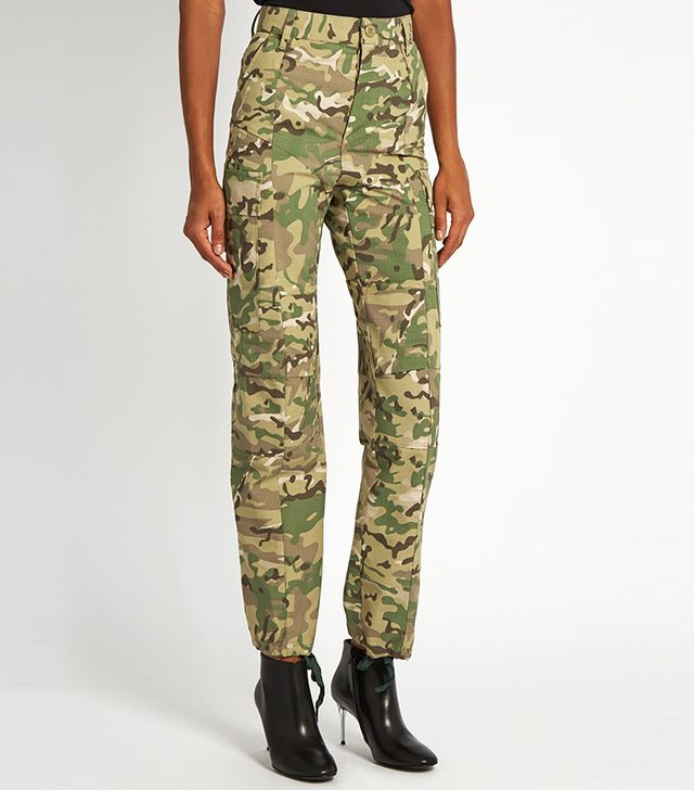 Unusual Summer 2017 Trends: Camouflage-print high-rise trousers