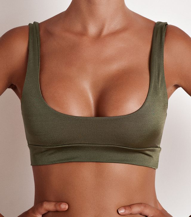 Fae Swim Maven Top in Olive