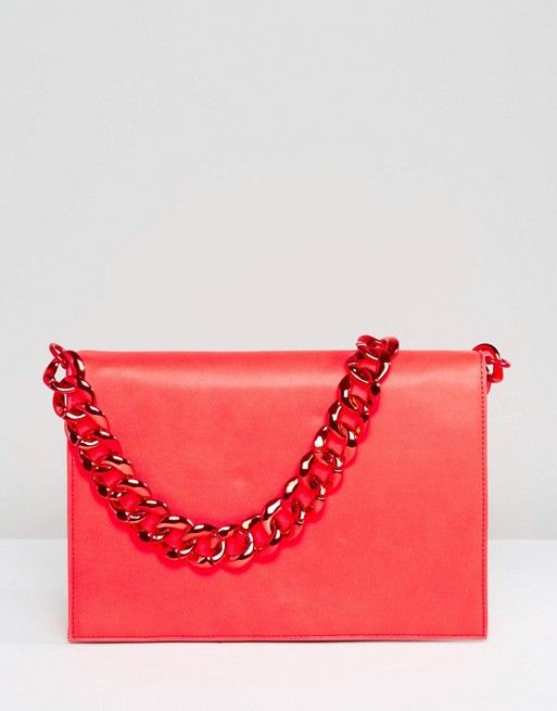 ASOS Plain Shoulder Bag with Chunky Chain