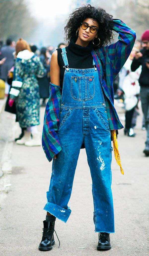 Tomboy chic outfits: Dungarees