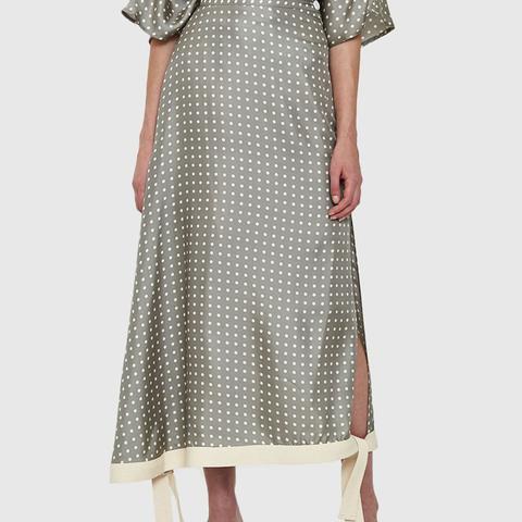 Polka Dot Silk Skirt