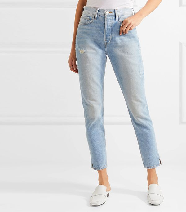 Le Original Skinny Distressed High-rise Straight-leg Jeans