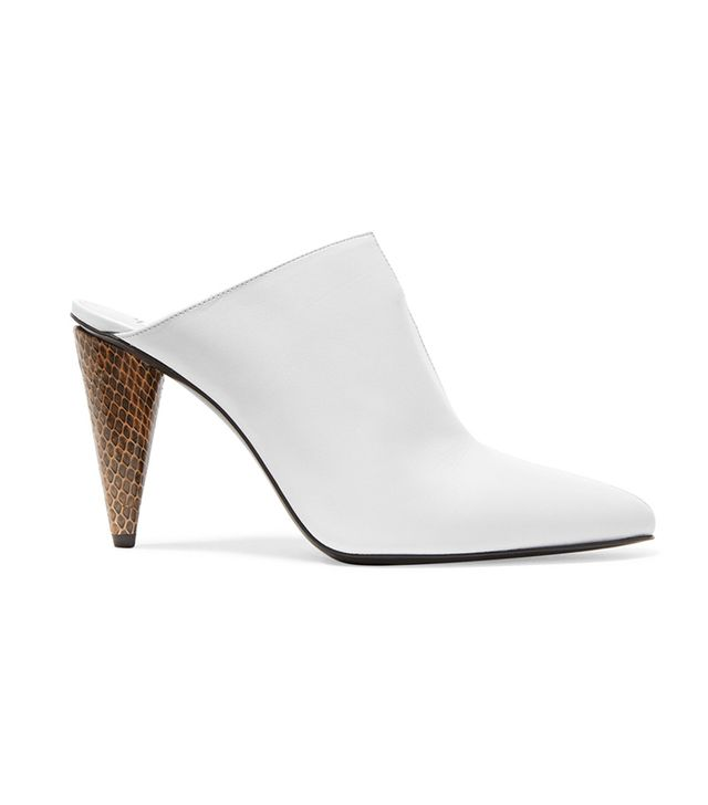 Demy Elaphe And Leather Mules