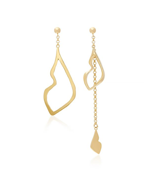 18K Gold Plated Her Kiss Earrings