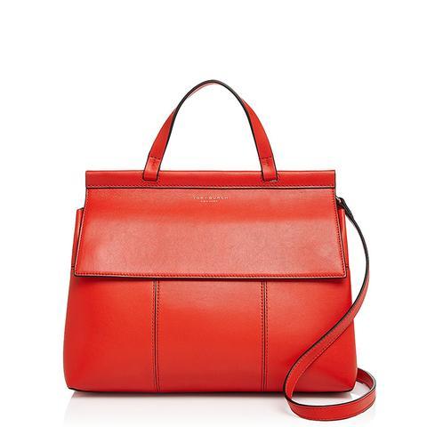 Block-T Leather Satchel