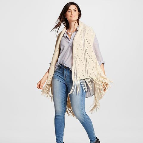 Knit Vest With Fringe