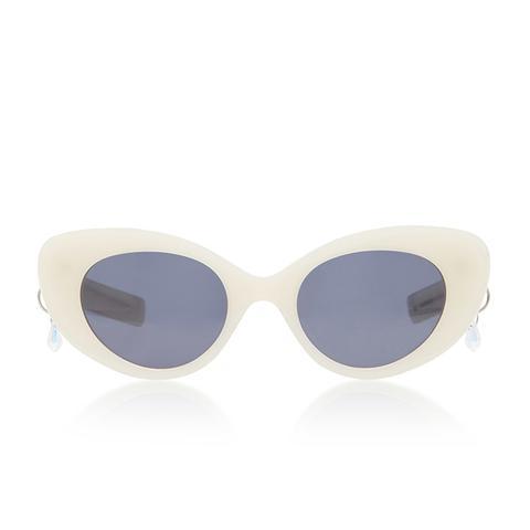Poms & Pared Acetate Cat-Eye Sunglasses