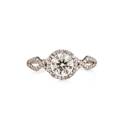 Brilliant-Cut White Diamond Ring