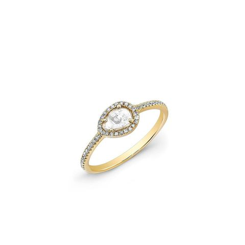 Yellow Gold Sasha Diamond Slice Ring