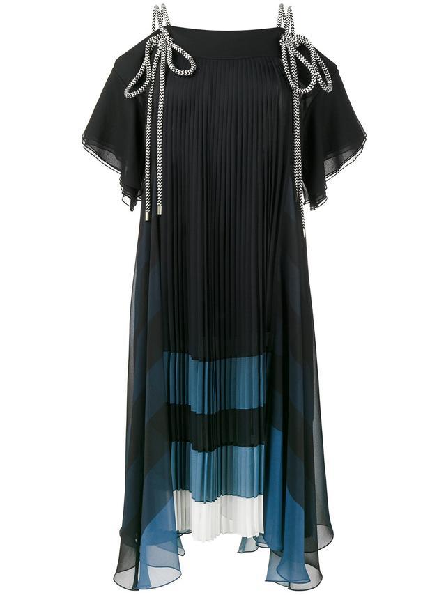 tie rope pleated dress