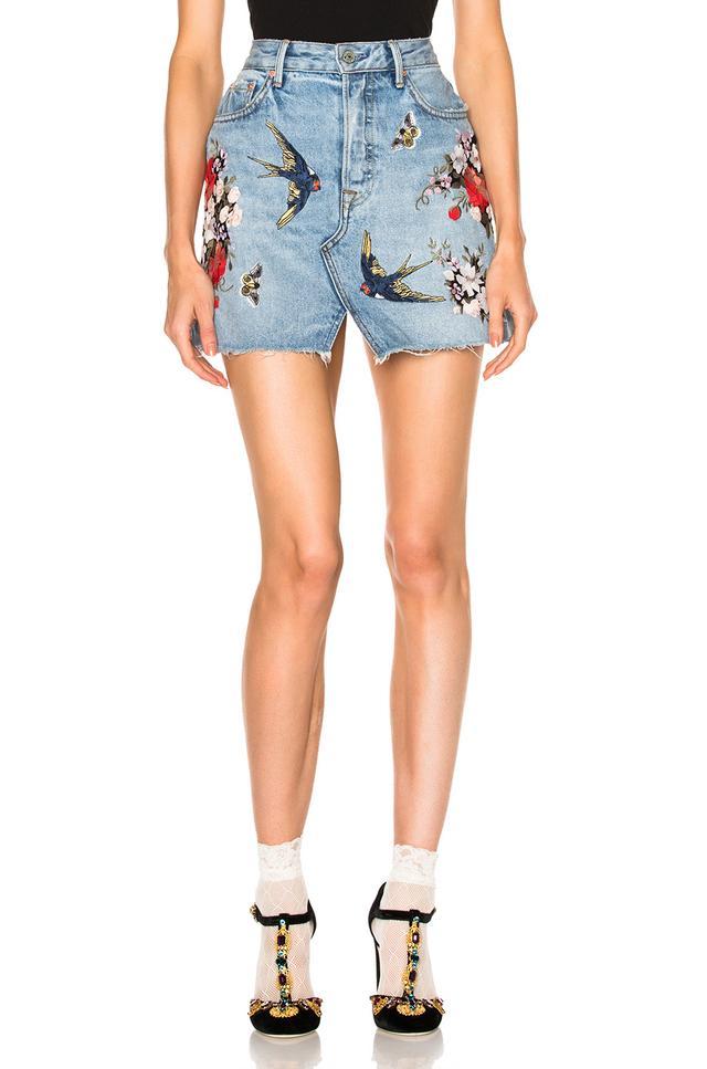 Grlfrnd Patchwork Skirt
