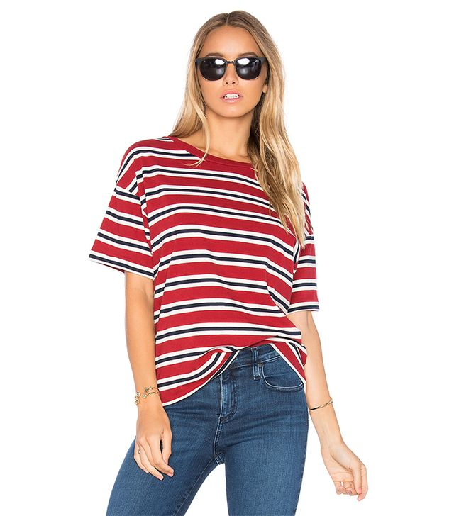 Sutro Striped Tee in Red
